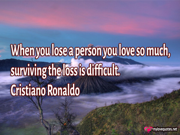 when you lose a person you love so much surviving the loss is difficult
