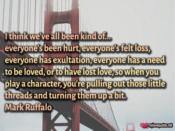 i think we've all been kind of everyone's been hurt