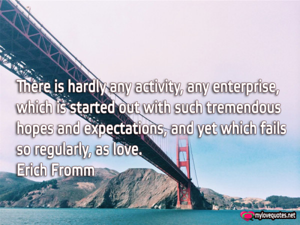 there is hardly any activity any enterprise which is started out with such tremendous hopes and expectations