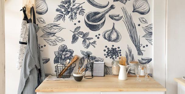Fototapeten Küche - Drawing Apem