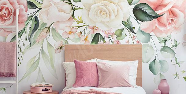 papiers peints chambre de fille mur aux dimensions myloview fr