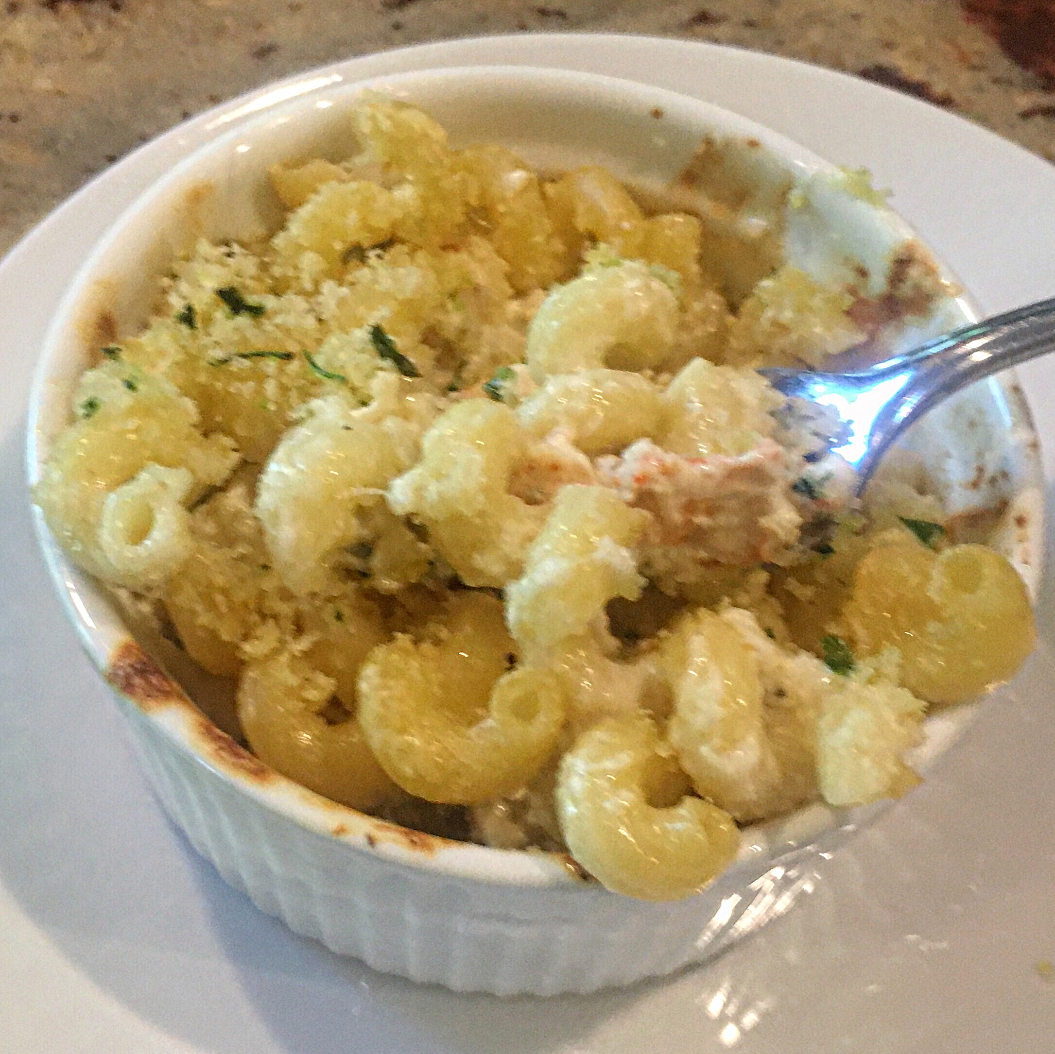Lobster Mac and Cheese for Two via @susanmylovingoven.com