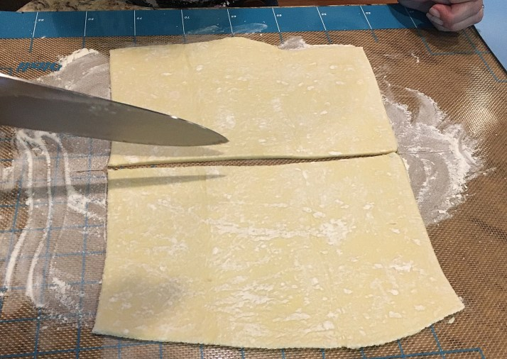 cut dough to size