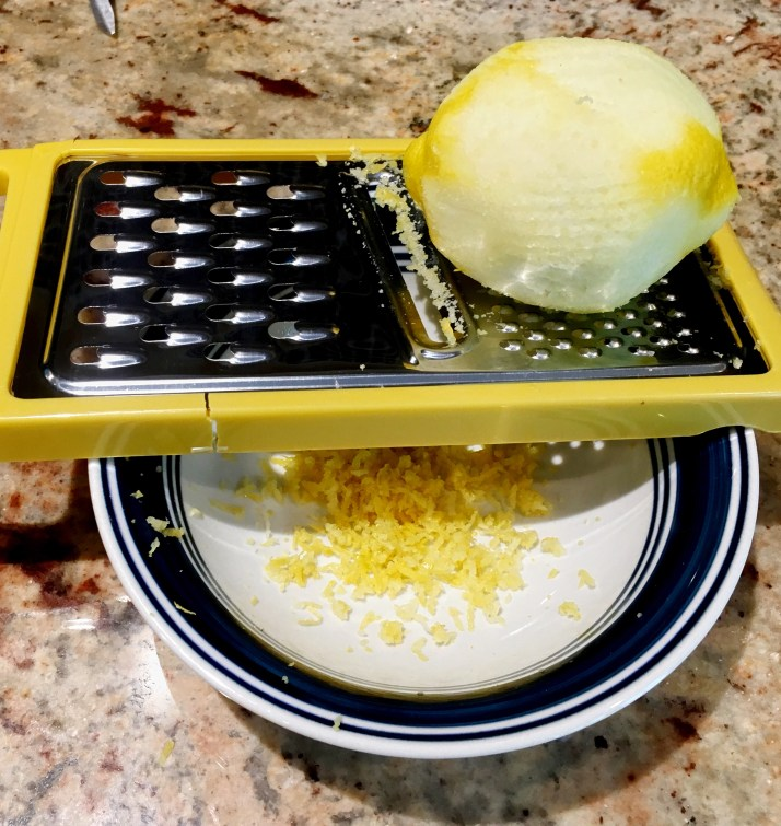 Preheat oven to 375℉ Make lemon zest and set aside