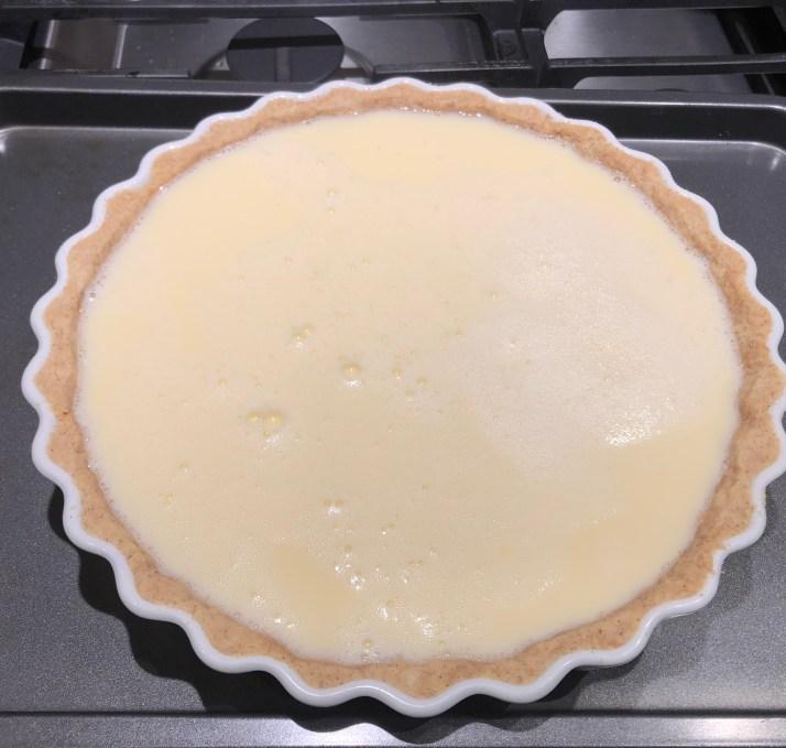 Tart prior to baking