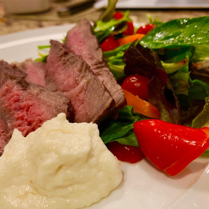 Zing up this recipe by adding some delicious horseradish blend 1/2 cup of whipped whipping cream with 1 tablespoon prepared horseradish and serve as a garnish for the beef