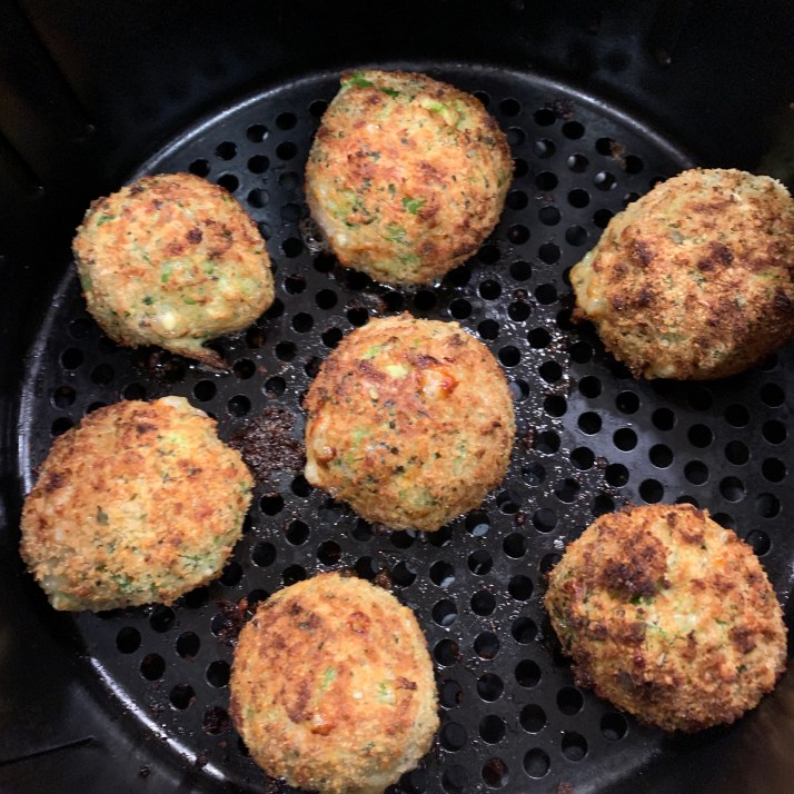 cooked cheesy broccoli croquettes