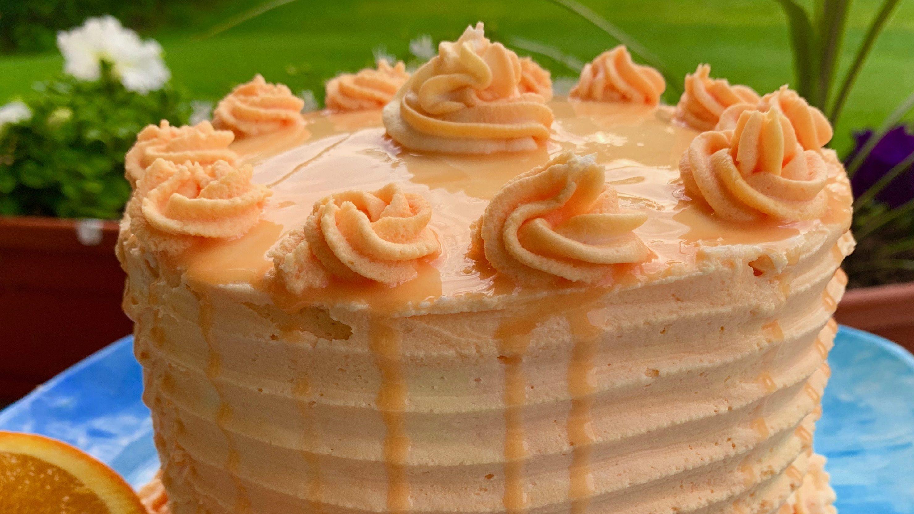 Orange Creamsicle Cake Recipe- Made from Scratch via @susanmylovingoven.com
