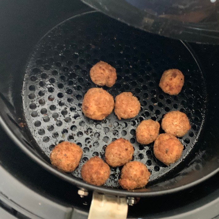 set air fryer on the chicken setting and cook for 15 minutes or until golden brown. Repeat the process until they are all cooked*you can cook these in the oven if you don't have an air fryer.  Preheat oven to 400℉ and cook for 15 minutes