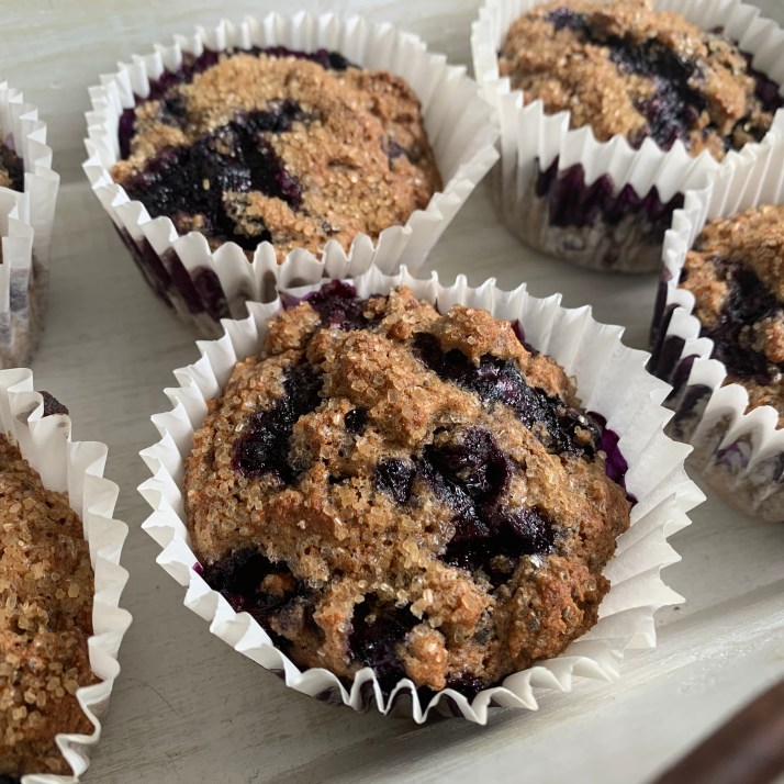 bake for 25 minutes in preheated oven at 375℉ until golden or the muffins spring bake when baked