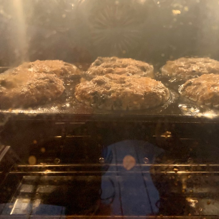 bake for 30 minutes for jumbo size muffins or 20 minutes for regular size
