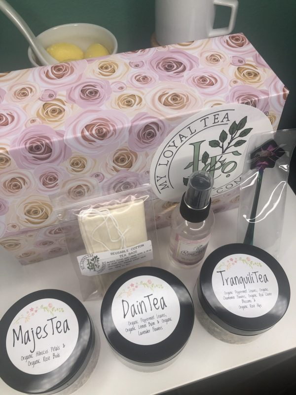 Spring Tea Box Collection with 2 bonuses & 2 luxurious cotton reusable tea bags for your cup or bath