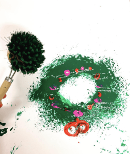 Kerstkrans schilderen