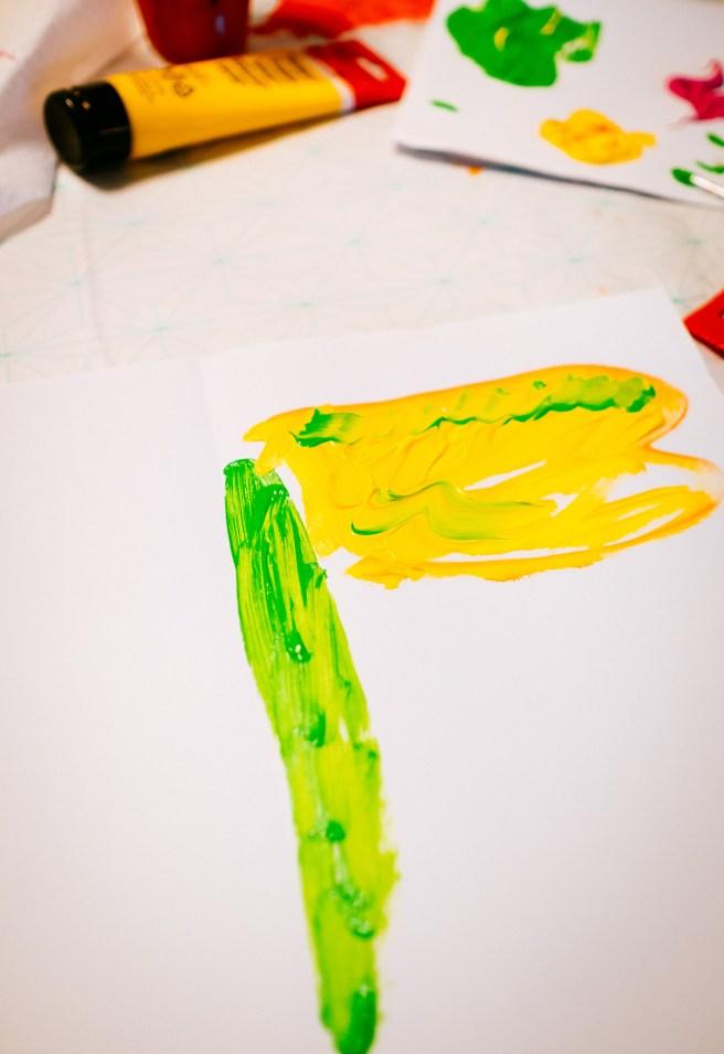 Libelle schilderen
