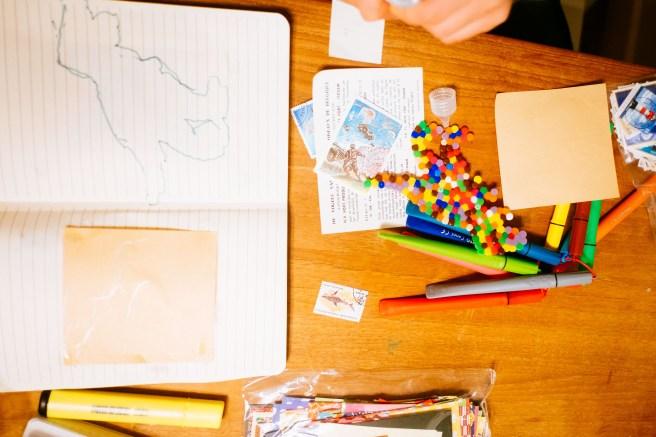 Met kinderen art journal maken