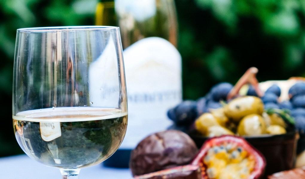 foto van wijnglas