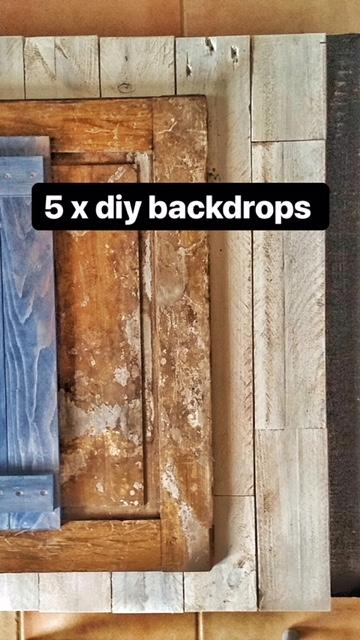 5 x diy backdrops