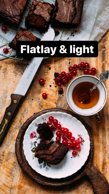 flatlay styling and light