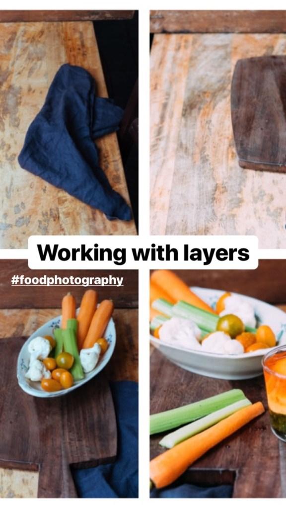 food fotografie: werken in lagen