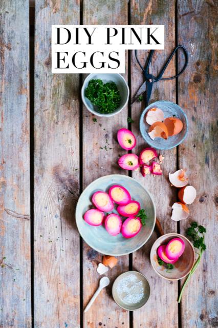 diy pink eggs Mylucie.com
