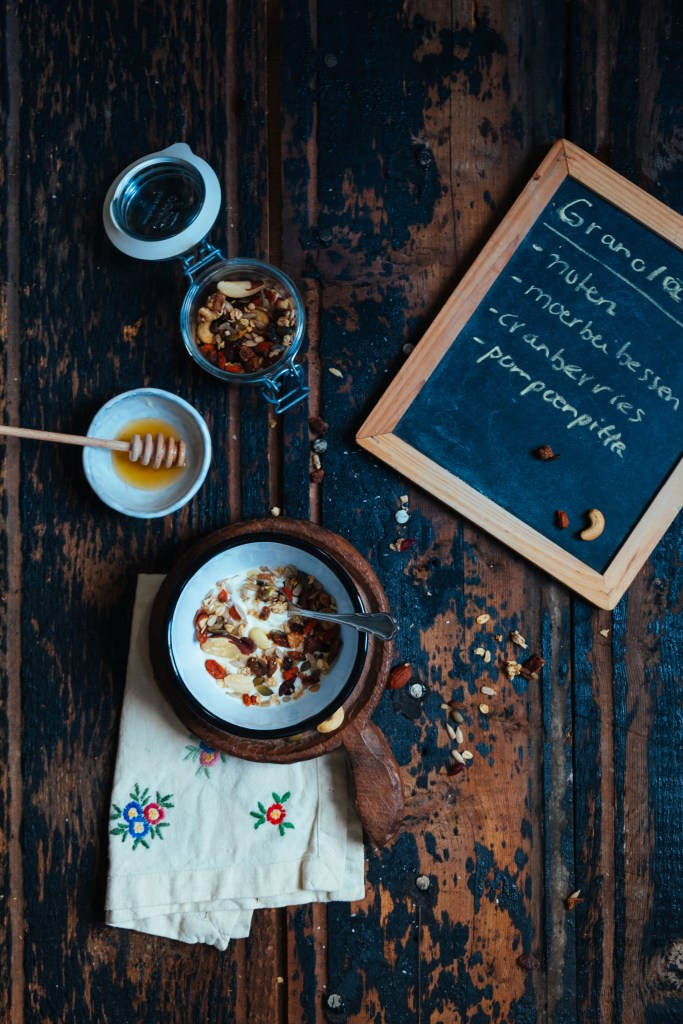 food styling granola