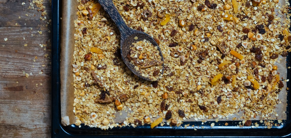 granola op bakplaat