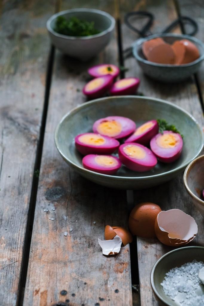 roze eieren maken