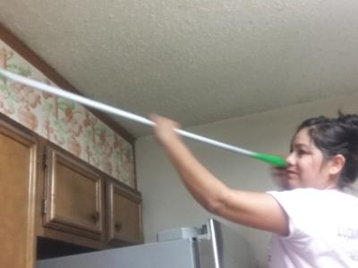 kitchen cabinet dusting