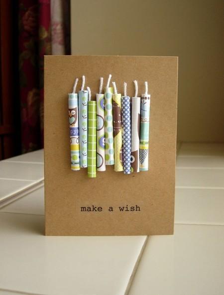 Einfache und schöne Papierkerzen