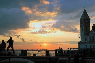 Sunset at Battery Park