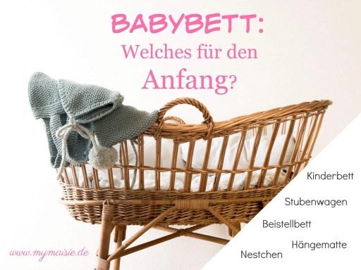 Babybett: Welches für den Anfang. Wiege mit Decke.