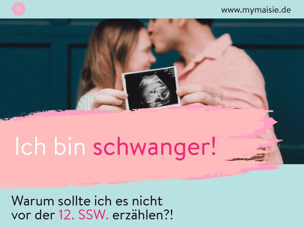 My Maisie Cover Schwangerschaft vor der 12. SSW erzählen?!