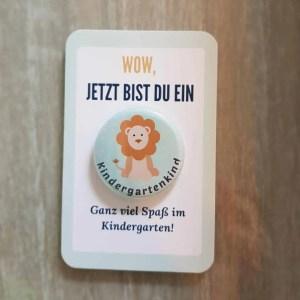 Auf der Suche nach einem Geschenk für den Start im Kindergarten oder der KiTa? Dieser Button weckt Vorfreude und Stolz