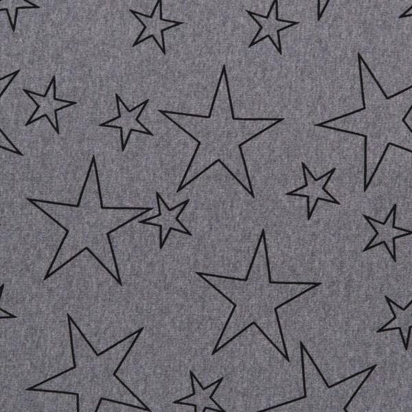 Elastisches Tragetuch grau mit Sternen 4,6cm