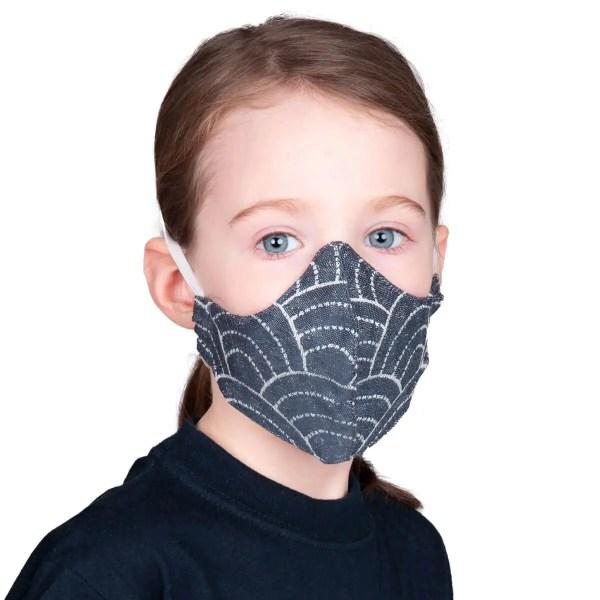 Gesichtsmaske für Kinder Sapporo blue
