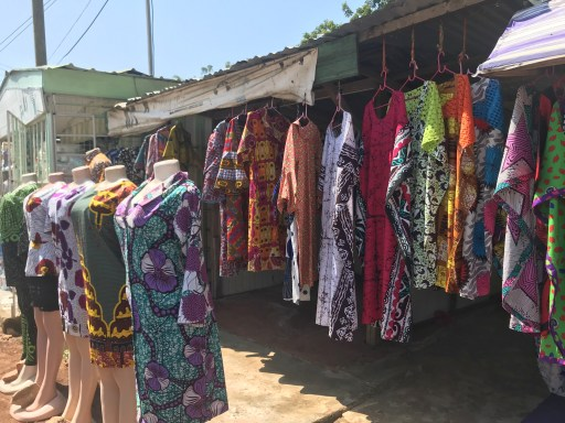 African wax print garments for sale in Accra Ghana