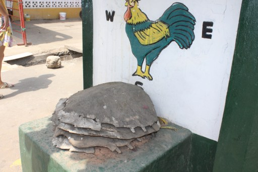 Turtle Asafo Posuban shrine at Cape Coast Ghana
