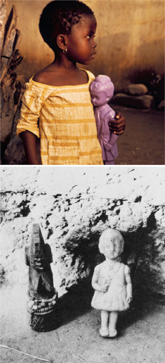 """""""Child with Purple Plastic Doll near Kumasi, Ghana,"""" Color Photograph by Eliot Elisofon, 1971, National Museum of African Art, Smithsonian Institution,"""