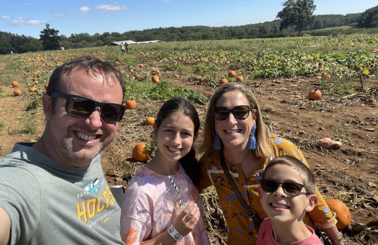 Our first experience at Alstede Farm pumpkin patch after moving to New Jersey.