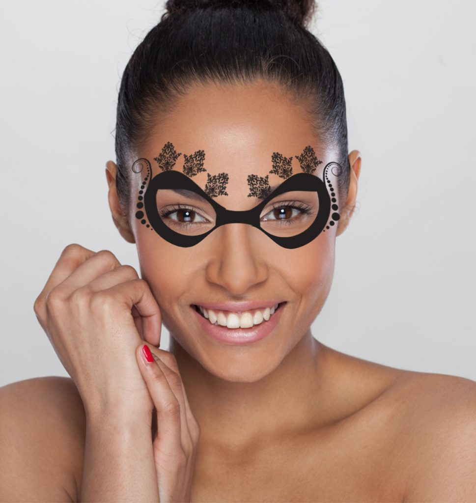 Bordeaux Temporary Tattoo Mask