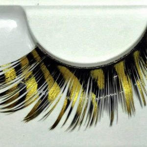 black and gold false eyelashes