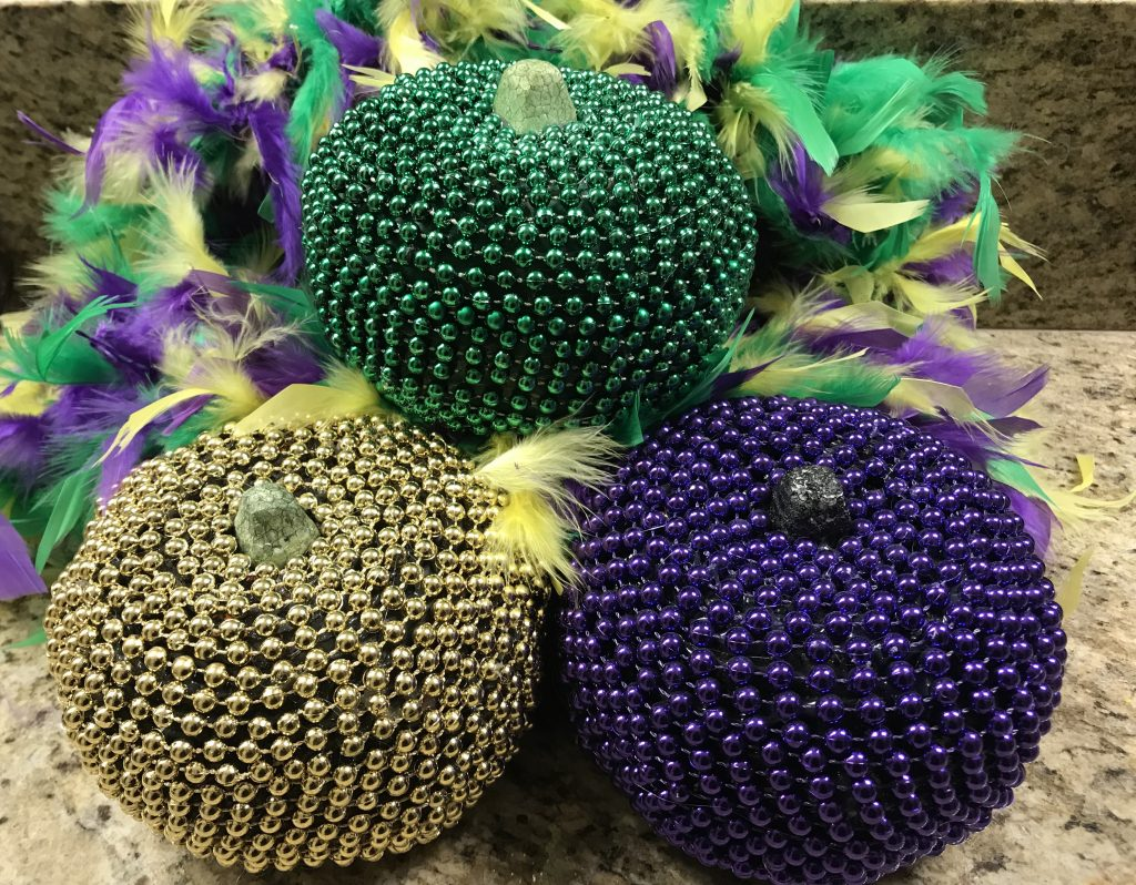 DIY Mardi Gras Pumpkin
