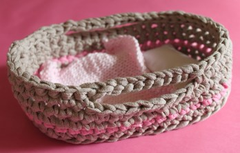 mml crochet mini baby basket