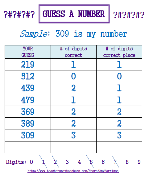 Guess a Mystery Number Game