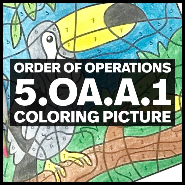 order of operations coloring picture