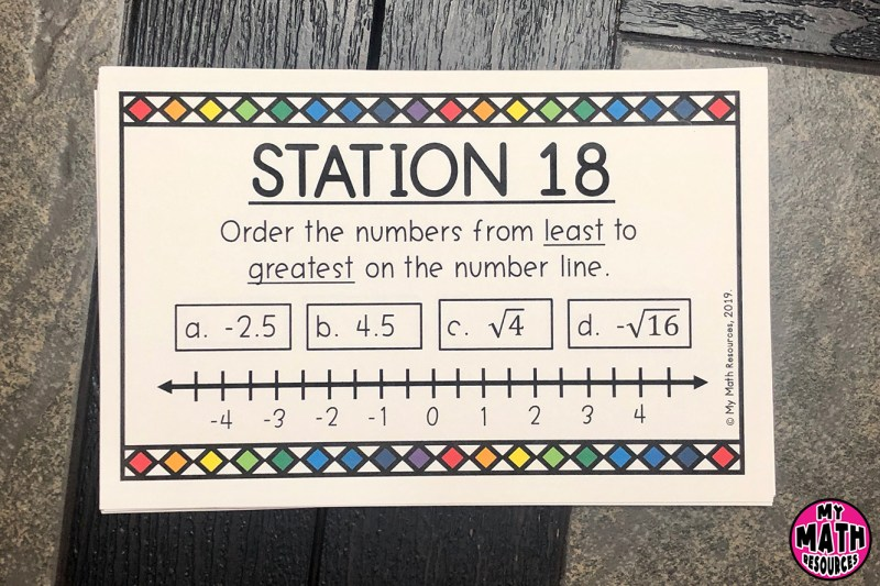 This is a FUN way to practice Core Standard 8.NS.A.1 & 8.NS.A.2.  Your 7th, 8th, or 9th Graders will LOVE doing stations!  Stations are an awesome warm up or test review!  #mathteacher #math #maths #teacher #algebra #geometry #mathproblems # study #iteachsixth #iteachseventh #iteacheigth #6thgrade #7thgrade #8thgrade #middleschoolmath #teacherspayteachers #teachersfollowteachers #teacherinspiration