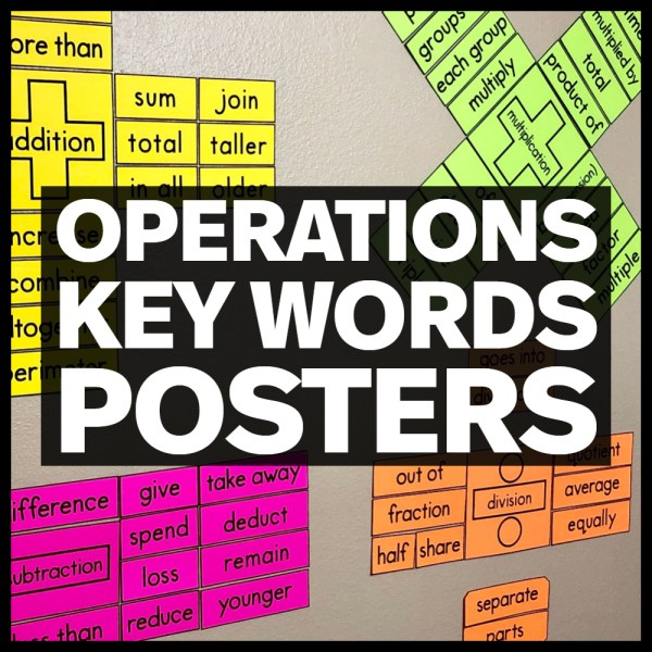 operations key words posters