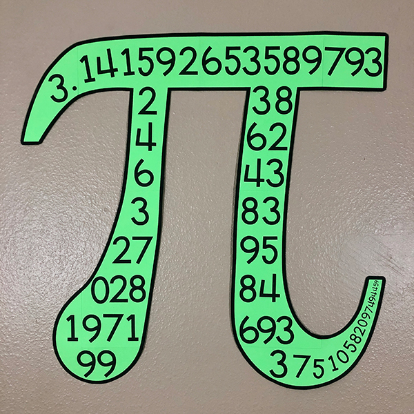 Pi Symbol Bulletin Board Poster
