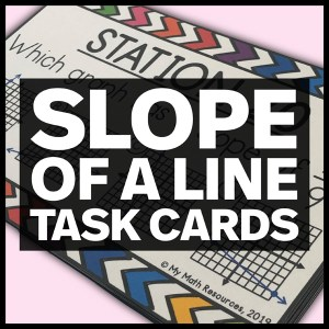 slope of a line task cards