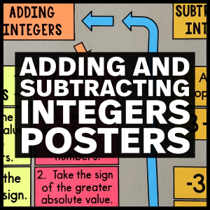 Adding & Subtracting Integers Posters